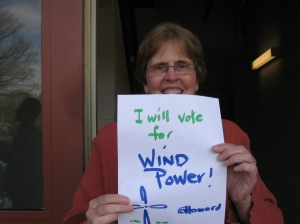I will vote for wind
