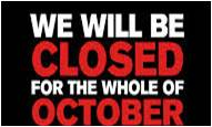 Closed for October