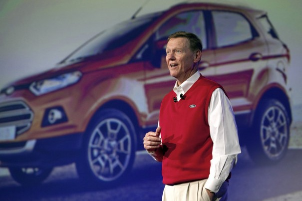 Alan Mulally CEO of Ford Motor Co. unveils the S-Max Concept.
