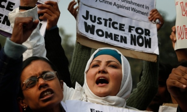 The Guardian reported Women in India protesting against sexual violence, days after 23-year-old student Jyoti Singh was gang-raped and murdered on a bus in Dehli. The case sparked anger around the world and drew attention to the prevalence of sexual violence in India. Photograph: Saurabh Das/AP